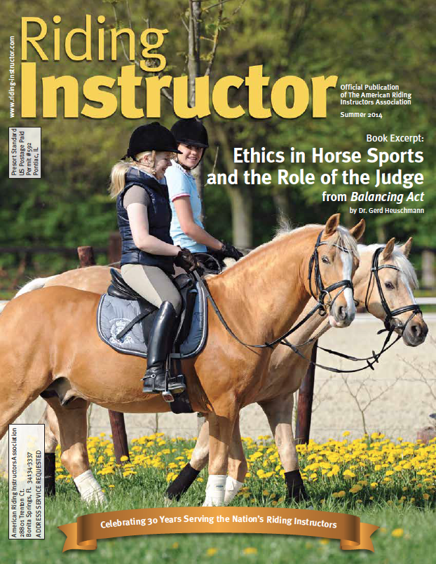Cover of Riding Instructor Magazine